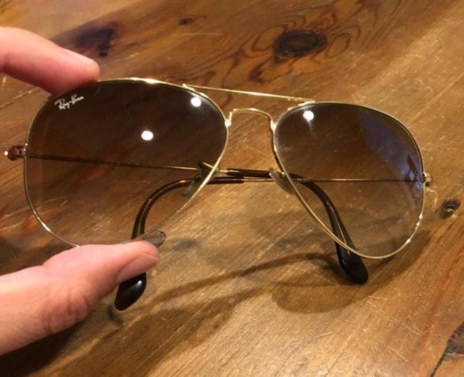 Ray-Ban Avaitor Gradient Light Brown Ray Ban Sunglasses