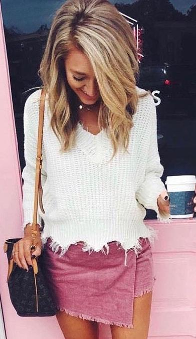 American Threads Pink Skort