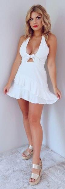 Shop Hopes NWT White Summer Spark Romper Dress