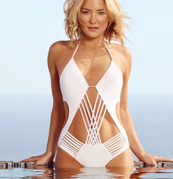 Fabletics Halah Maillot White One Piece Swimsuit