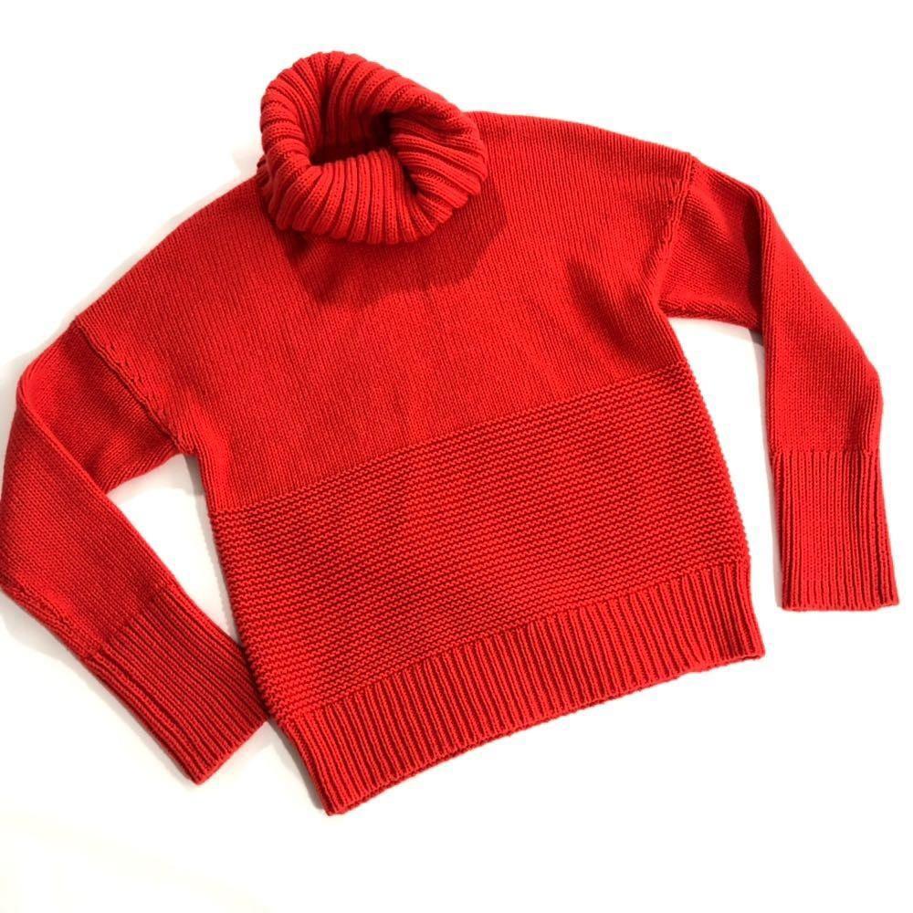 Gap Fire Orange Turtle Neck Knit Sweater