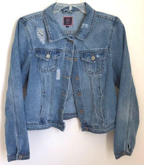 Boom Boom the Label Great Distressed Denim Jacket