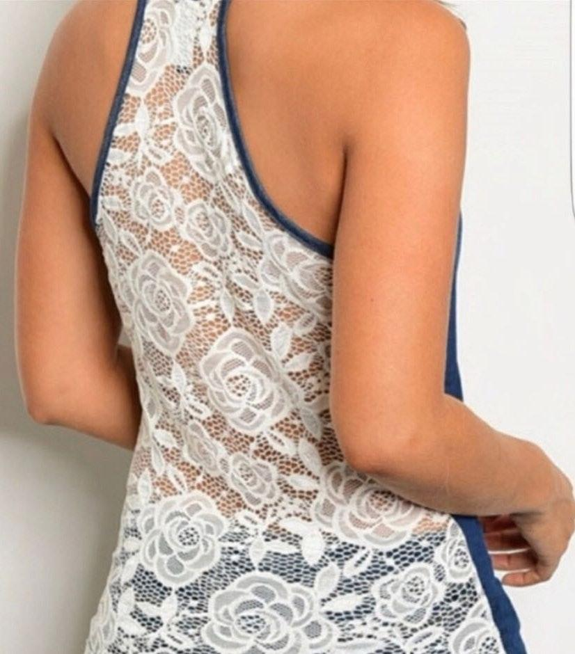 Lace Back Top