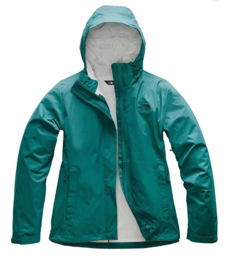 The North Face Turquoise Green North Face Rain Jacket Windbreaker