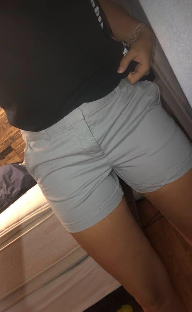 Ann Taylor Gray Khaki Shorts