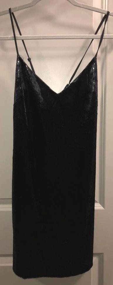 Impeccable Pig Black Shimmering Velvet Dress