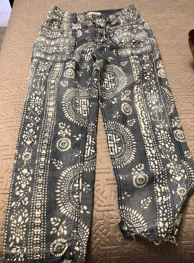 Free People Relaxed Fit Patterned Jeans