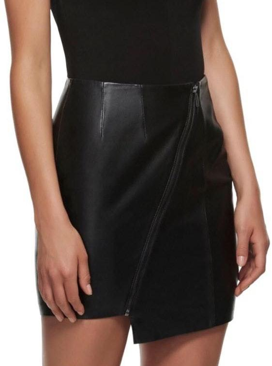 Kendall & Kylie Black Leather Skirt