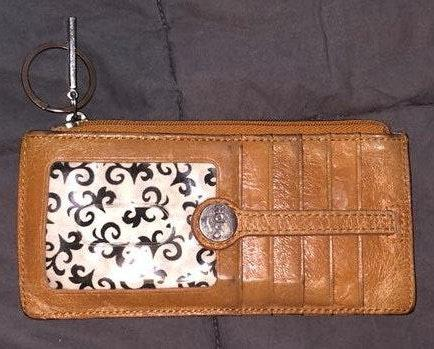 HOBO Tan Leather Wallet