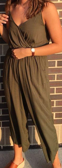 Hollister Olive Green Jumpsuit