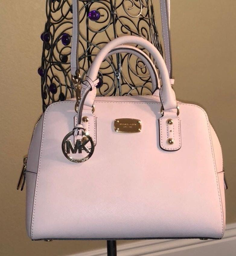 classic undefeated x stylish design Michael Kors Genuine leather Barbie pink purse Micheal Kors