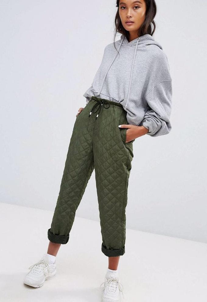 ASOS Green Windbreaker Pant