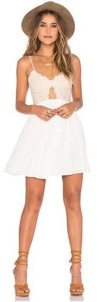 Tularosa Bryce Mini Dress In Ivory