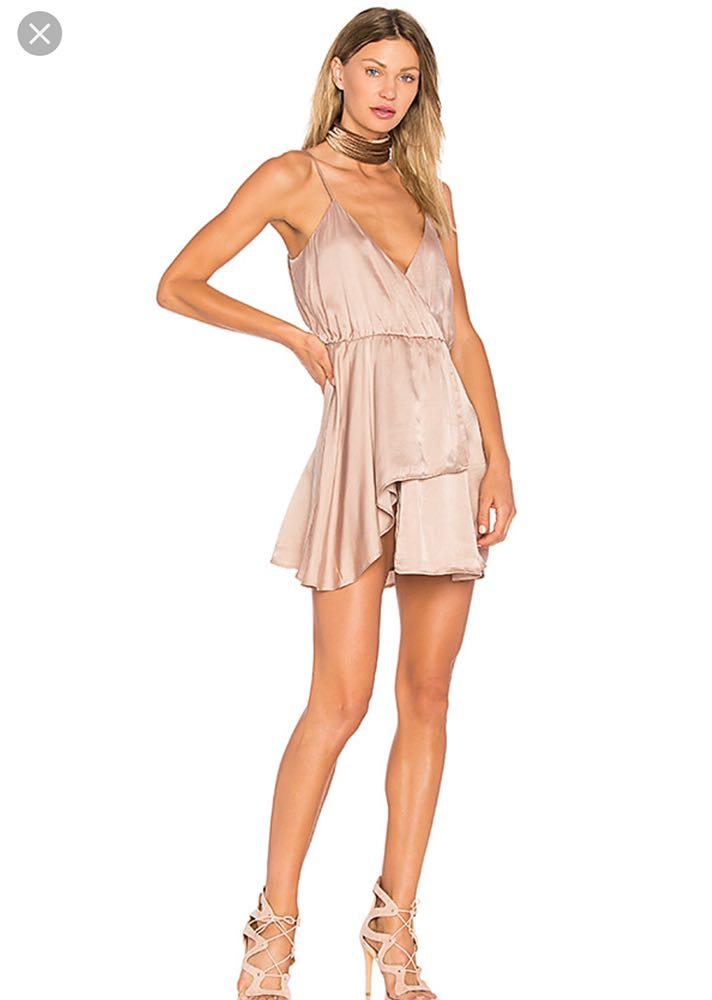NBD taupe mini dress