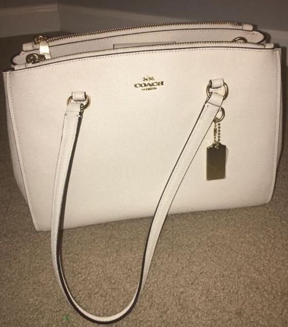 Coach White Handbag