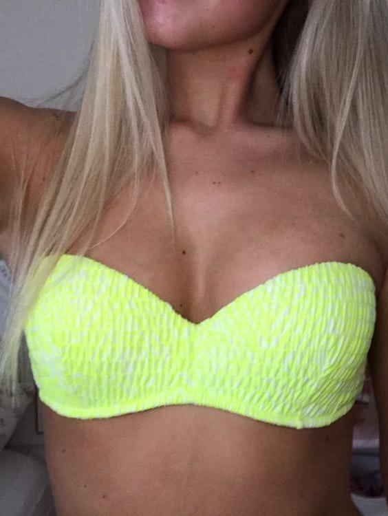 Victoria's Secret Yellow Bandeau Bikini Top