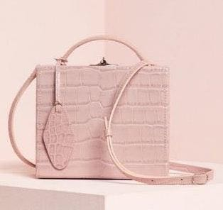 Pop & Suki Pink Luggage Tag Box Purse