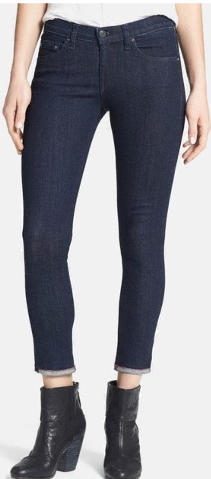 Rag & Bone Repair(ED) Skinny Capri Jeans In Era