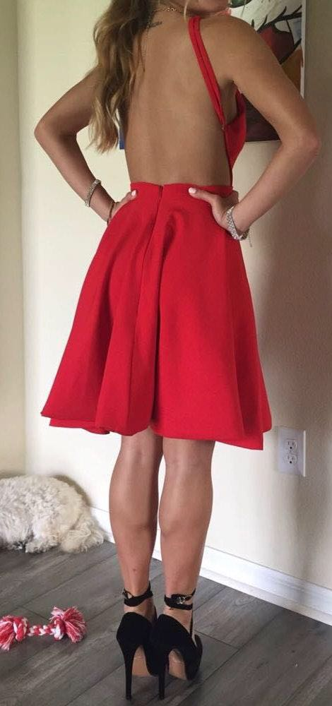 Amazon Red Formal Dress