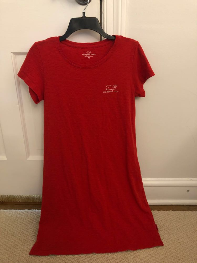 Vineyard Vines Red T-shirt dress