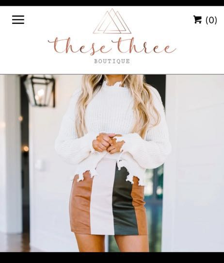 These Three Boutique White Fringe Sweater