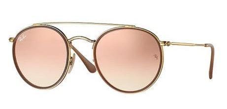 Ray-Ban Rose Gold Reflecting Sunglasses
