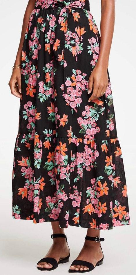Ann Taylor Floral Maxi Skirt