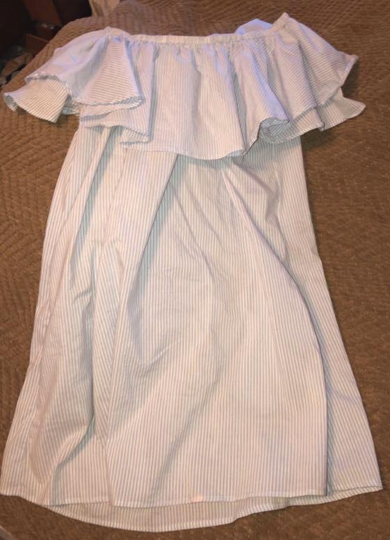 Strapless Pinstripe Dress
