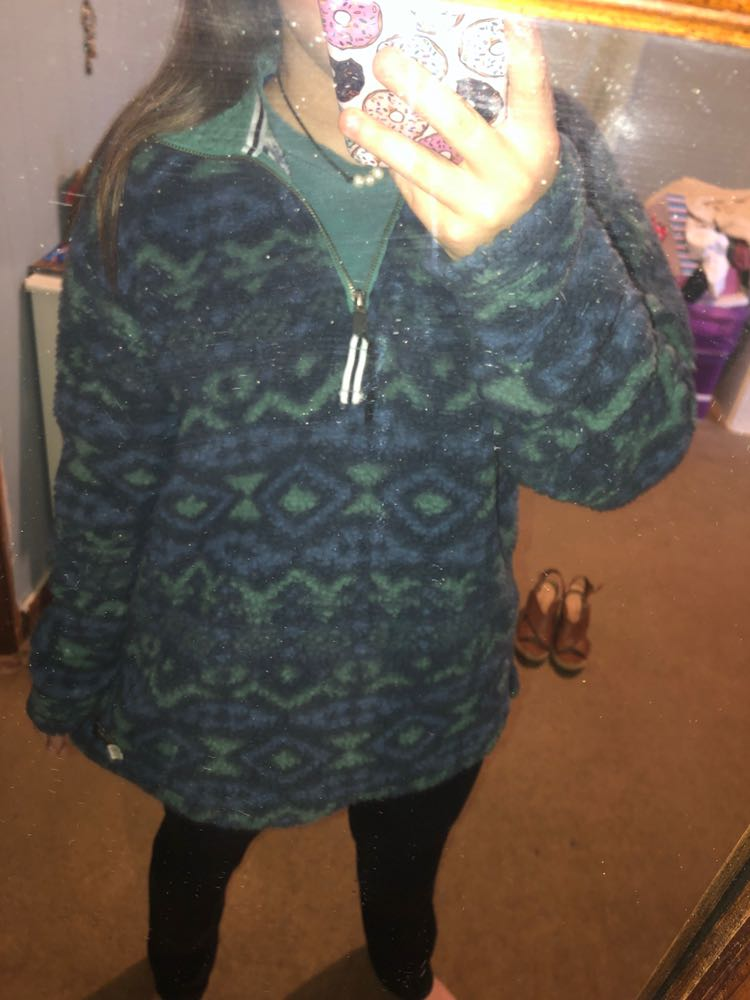Southern marsh Blue And Green Wool Jacket