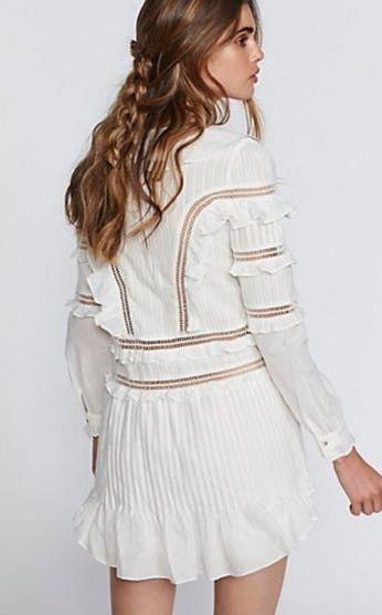 For Love & Lemons Ziggy Pintuck Dress