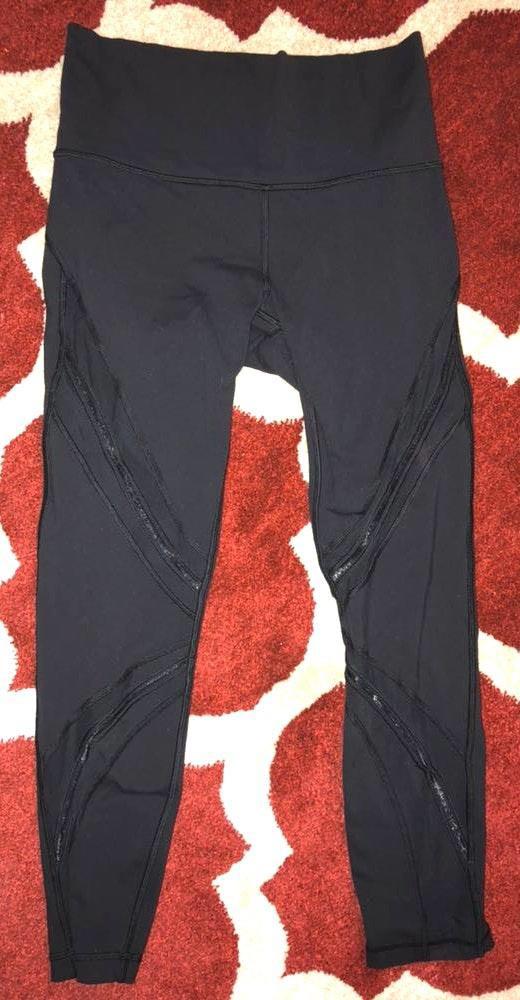 Lululemon Black Mesh Leggings