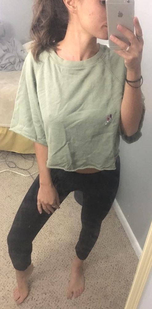 Forever 21 Cropped Sweatshirt Tee