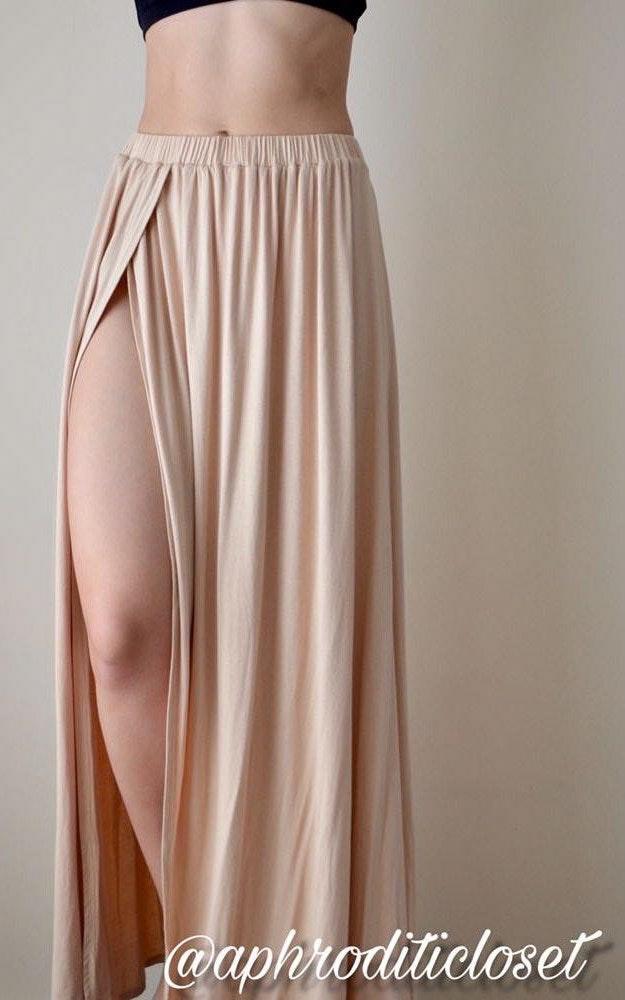 Sabo Skirt Nude Maxi Skirt