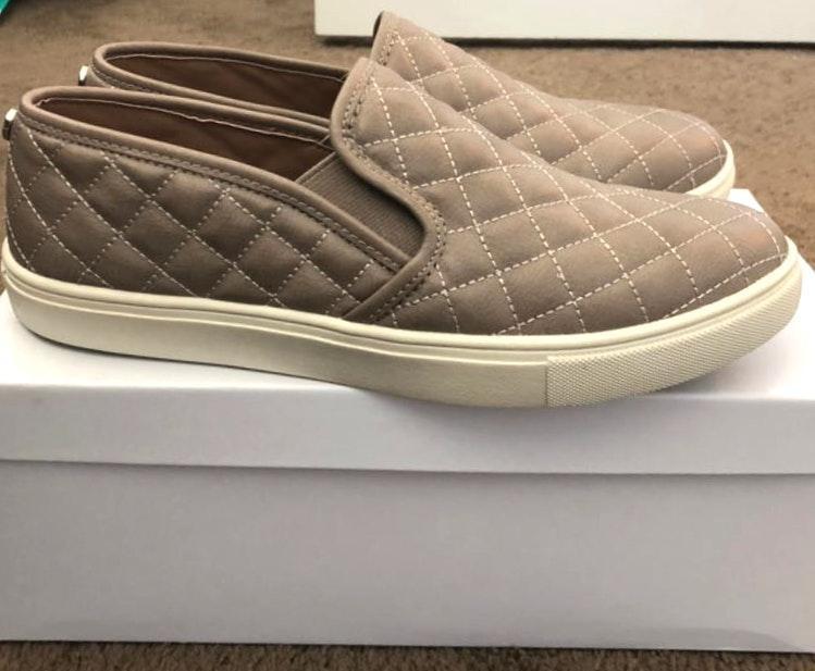 Steve Madden Gray Slide-On Sneakers
