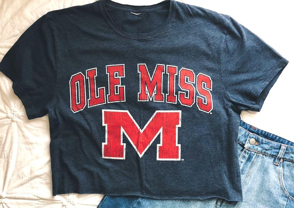 Cropped Ole Miss Tee