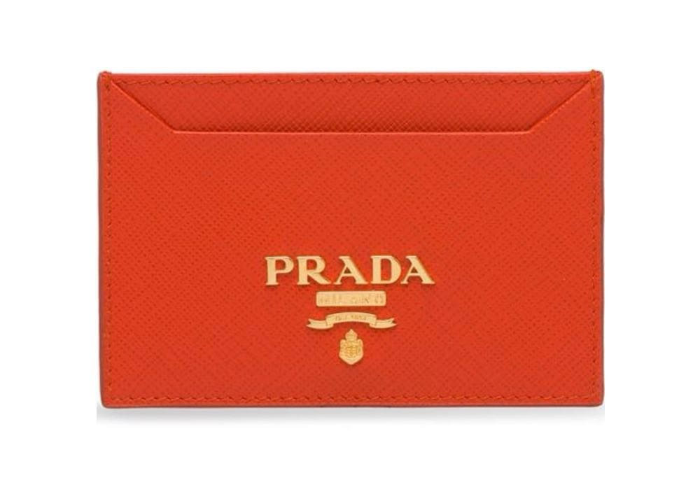 Prada Orange Card Holder
