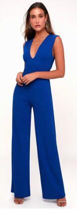 Lulus Cobalt blue Formal Jumpsuit