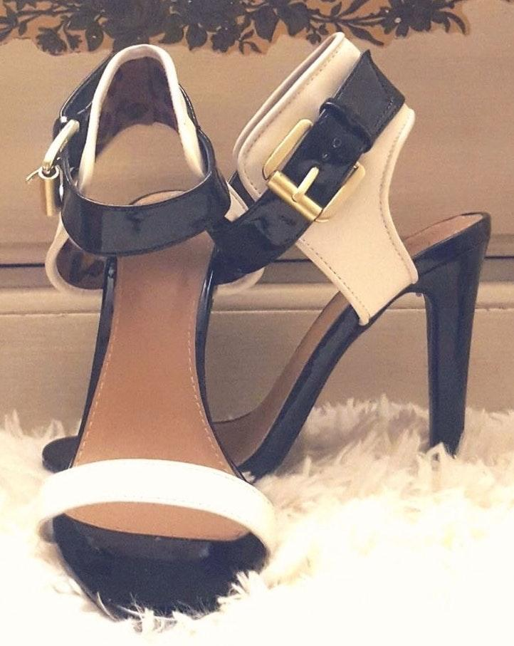 7.5 Leather Cream Sexy Classy Heels