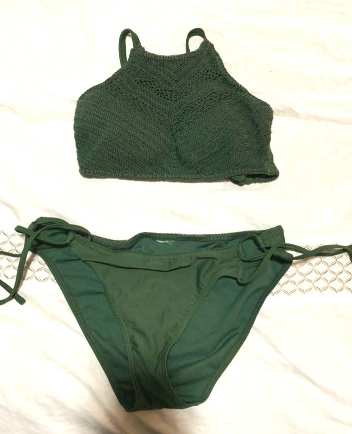 4ae5b540a2 We're the buy/sell app for cute clothes. Say to being bored of your  clothes. Home Target Green Bathing Suit Set