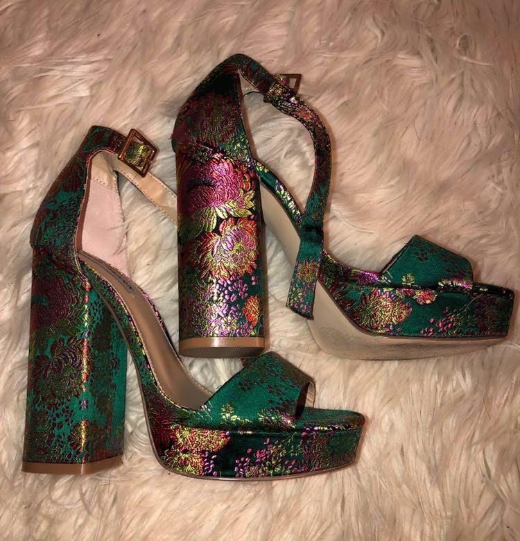 ef28818e0ec Steve Madden Floral Jasmine High Heels