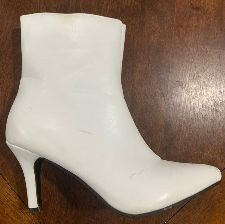 Rue 21 Heeled White Booties