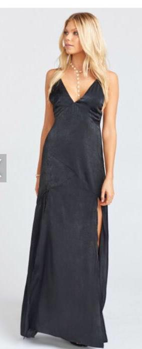 Show Me Your Mumu Black Silk  Dress