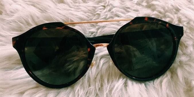 Tory Burch circle lense cat-eye sunglasses