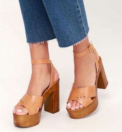 Steve Madden Brown Platform Sandals