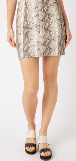 Wild Honey Snake Skin Skirt