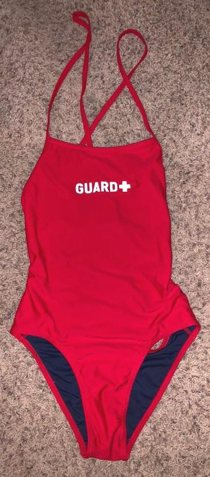 Red Lifeguard One Piece