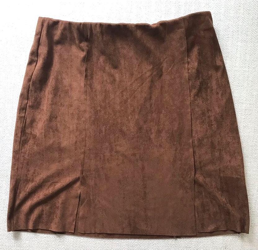 Cotton Candy LA Brown Suede Mini Skirt