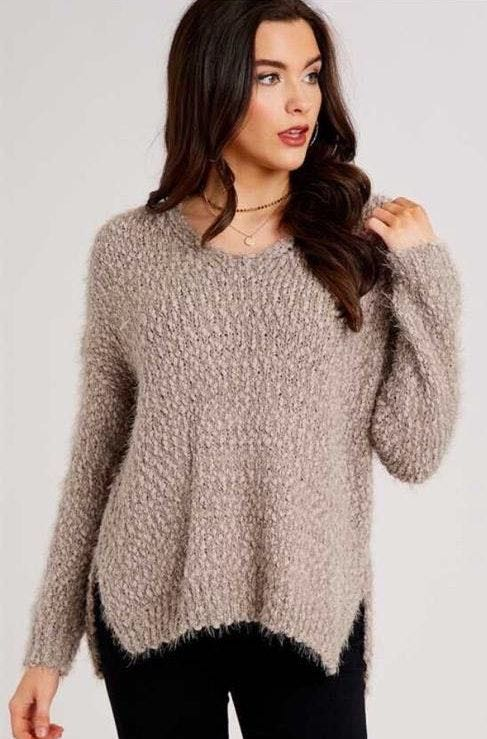 Altar'd State Fuzzy Lovely Lash Sweater