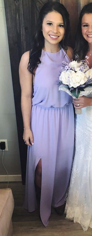 Show Me Your Mumu Lilac Open Slit Dress