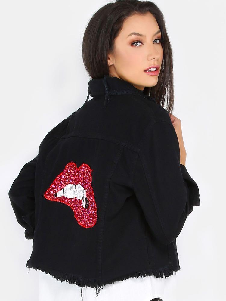Sequent Lips Denim Jacket